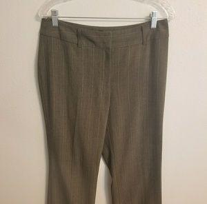 Gray/brown striped cropped pants Sz 8 (JJ0574)